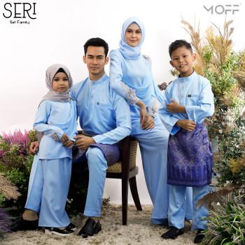 SET FAMILY KURUNG SERI BABY BLUE
