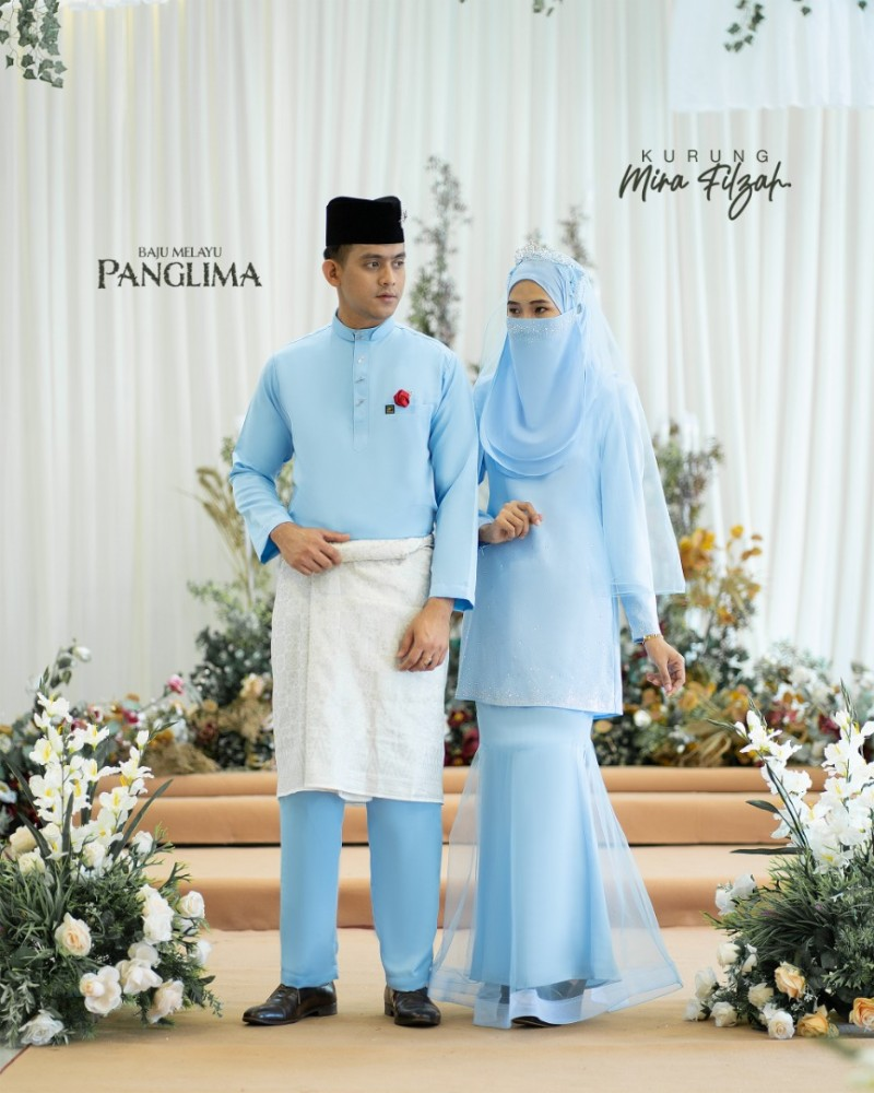 Mira Filzah In Baby Blue