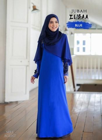 Ilyaa Jubah In Royal Blue