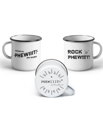 ENAMEL MUG - ROCK PHEWIIIT WHITE