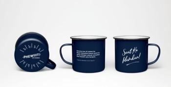 Enemal Mug Navy Blue