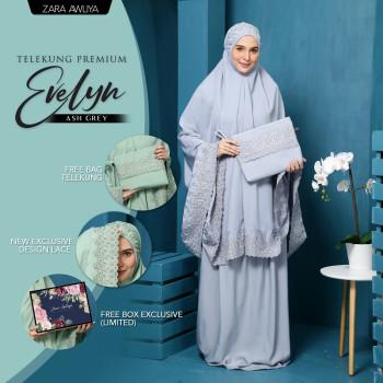 Telekung Premium EVELYN - Ash Grey