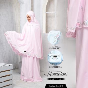 Telekung HUMAIRA - Baby Pink