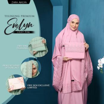 Telekung Premium EVELYN - Light Pink