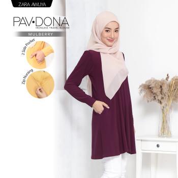 PAVDONA IRONLESS BLOUSE - Mulberry