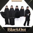 TELEKUNG PREMIUM SAFIYYAH - Black (Classic+Berpoket) - ZARA AWLIYA