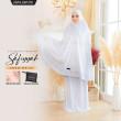 Telekung Premium Safiyyah - White - ZARA AWLIYA