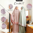 Telekung Camellita-X - Light Rose (Ready Stock) - ZARA AWLIYA