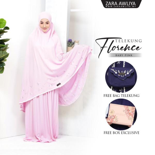 Telekung Florence - Baby Pink - ZARA AWLIYA