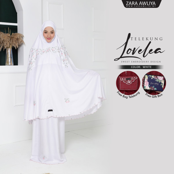 Telekung LOVELEA - White - ZARA AWLIYA