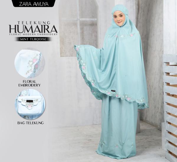 Telekung HUMAIRA - Mint Turqoise - ZARA AWLIYA