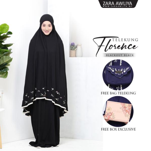 Telekung Florence - Black - ZARA AWLIYA