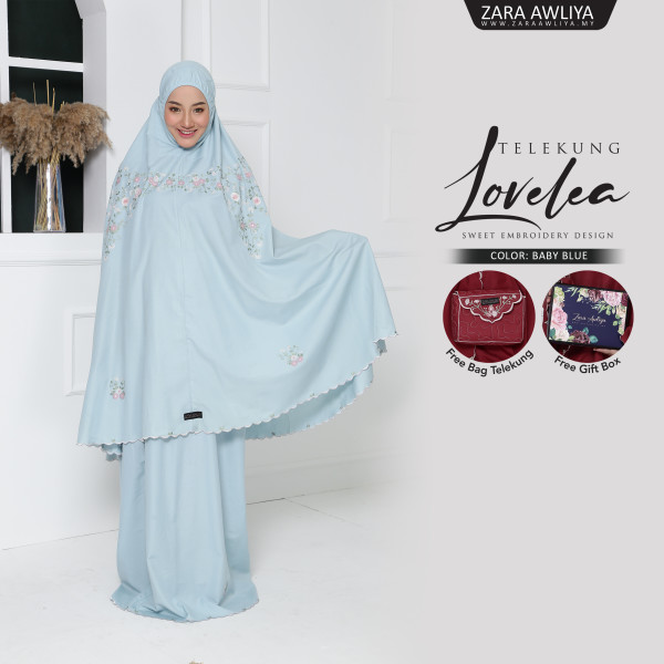 Telekung Lovelea - Baby Blue - ZARA AWLIYA