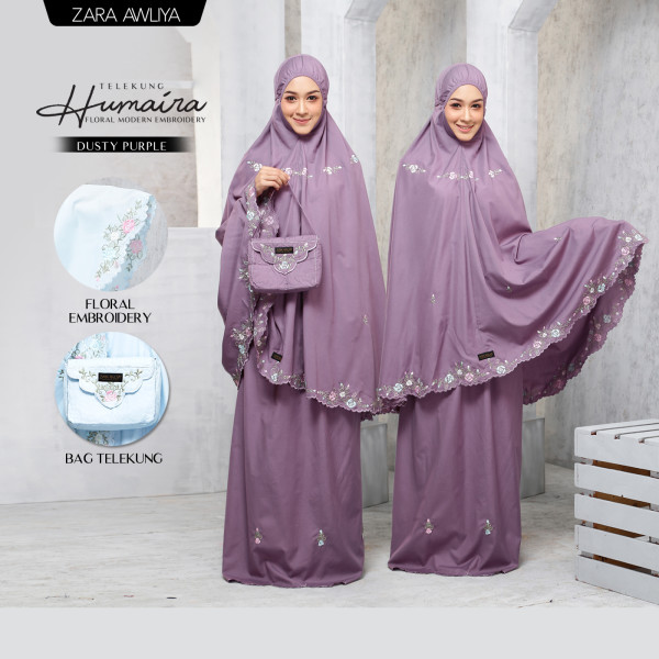 Telekung HUMAIRA - Dusty Purple - ZARA AWLIYA