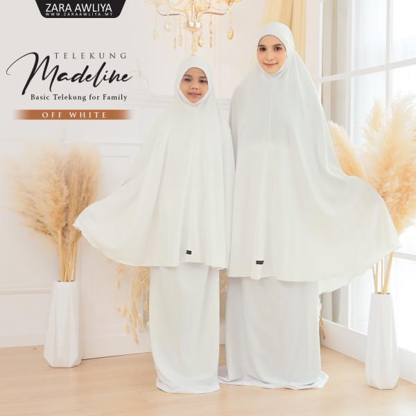 Telekung Madeline - Off White - ZARA AWLIYA