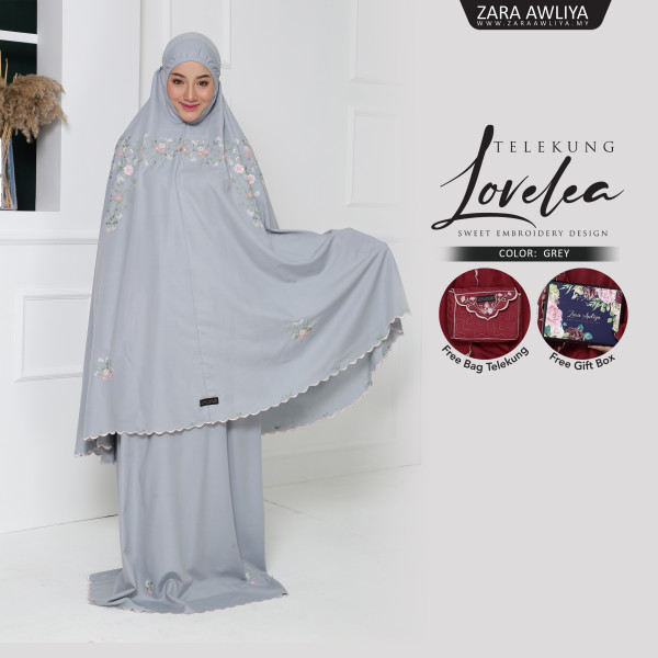 Telekung LOVELEA - Grey - ZARA AWLIYA