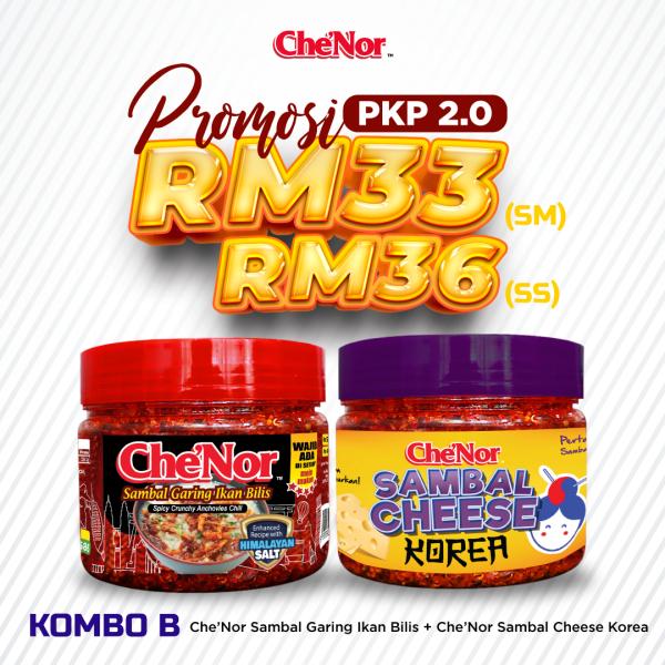 [PROMOSI PKP 2.0] KOMBO B - Sambal Garing Che'Nor Official