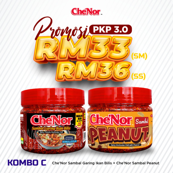 [PROMOSI PKP 3.0] KOMBO C - Sambal Garing Che'Nor Official