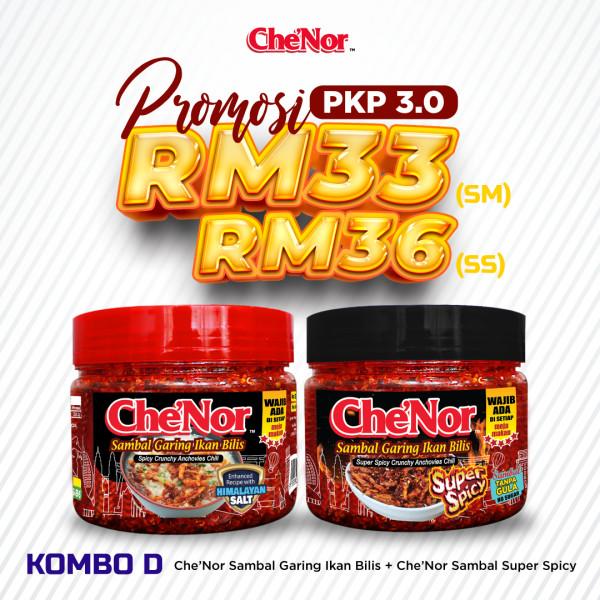 [PROMOSI PKP 3.0] KOMBO D - Sambal Garing Che'Nor Official