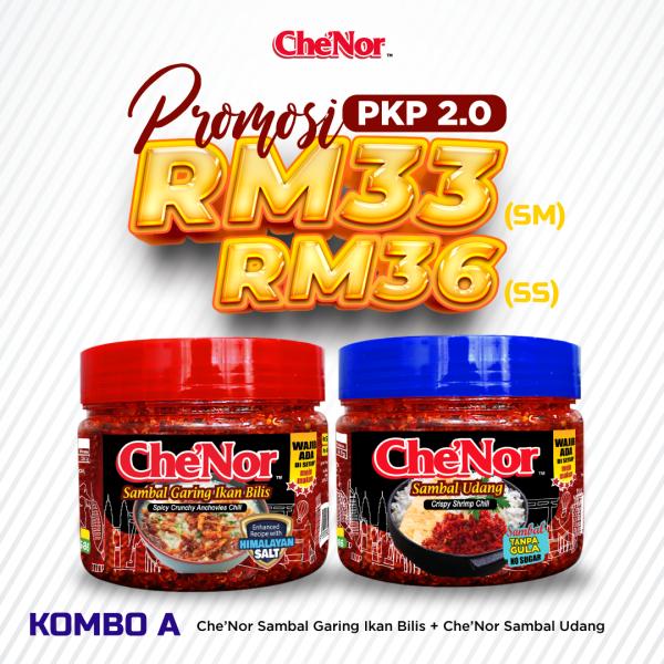 [PROMOSI PKP 2.0] KOMBO A - Sambal Garing Che'Nor Official