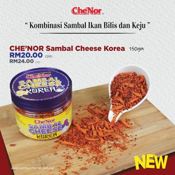 Che'Nor Sambal Cheese Korea - 150gm - Sambal Garing Che'Nor Official