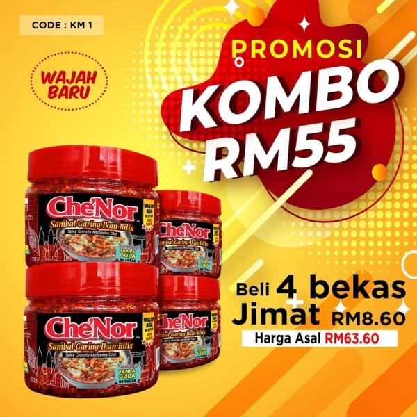 KOMBO KM1 - Sambal Garing Che'Nor Official