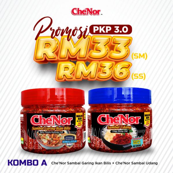[PROMOSI PKP 3.0] KOMBO A - Sambal Garing Che'Nor Official
