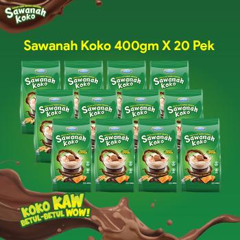 AGEN SAWANAH KOKO 400gm (20 Pek)