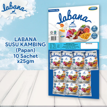 LABANA SUSU KAMBING - PAPAN SACHET (10x25gm)