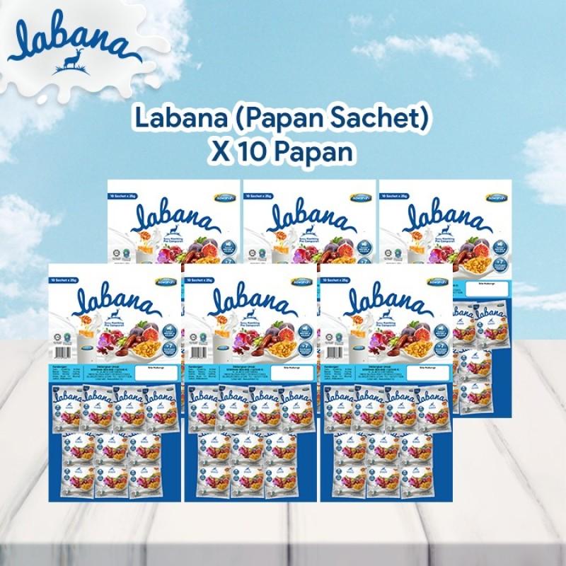 AGEN Labana Susu Kambing - Papan Sachet (10 Pek)