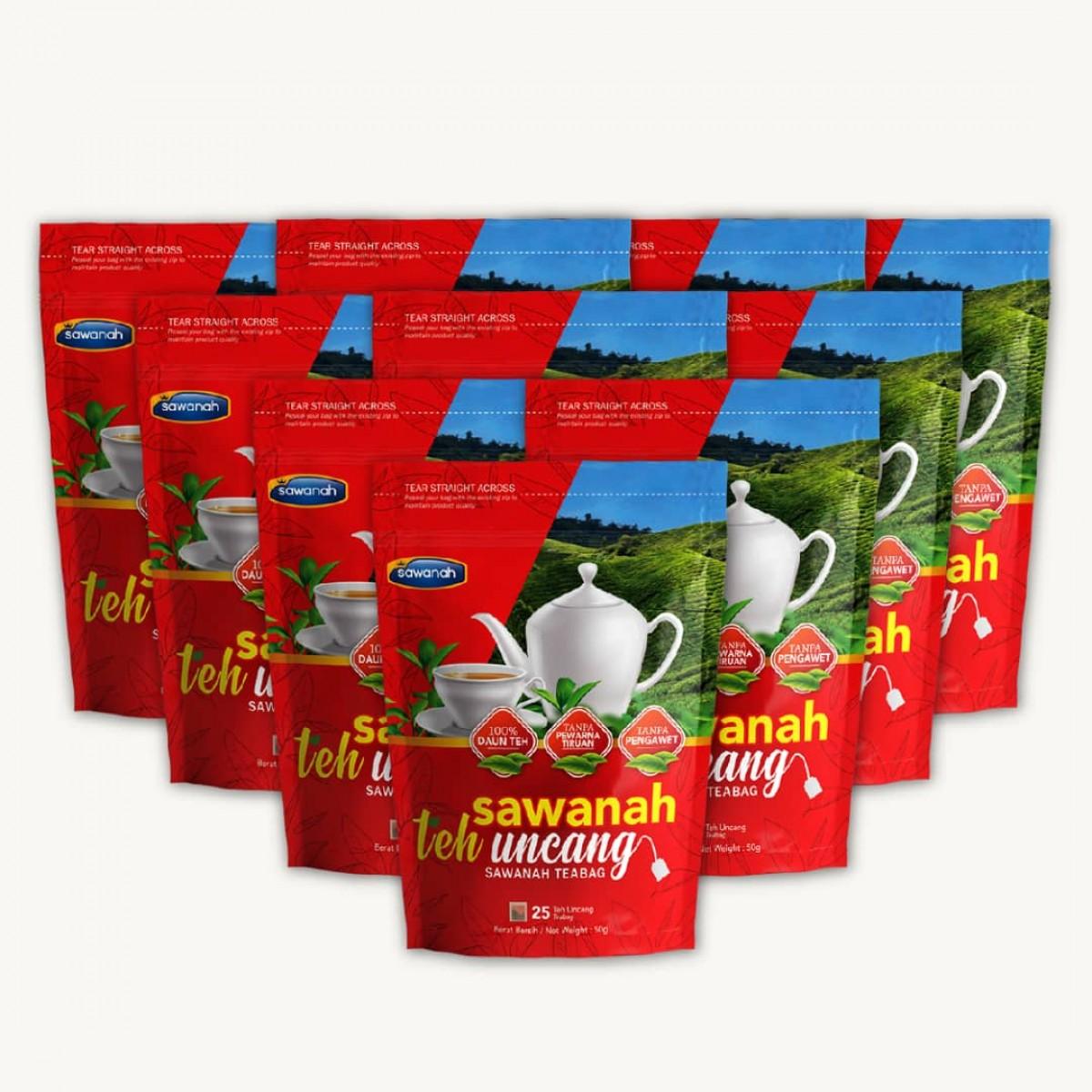 Pembelian Combo 10 Pek - Sawanah Teh Uncang - Sawanah HQ