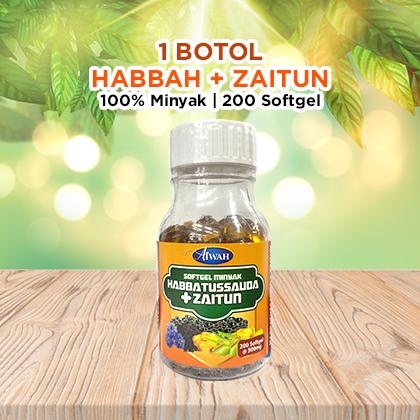 Pembeli Softgel  Habbah+Zaitun (1 Botol) - Sawanah HQ
