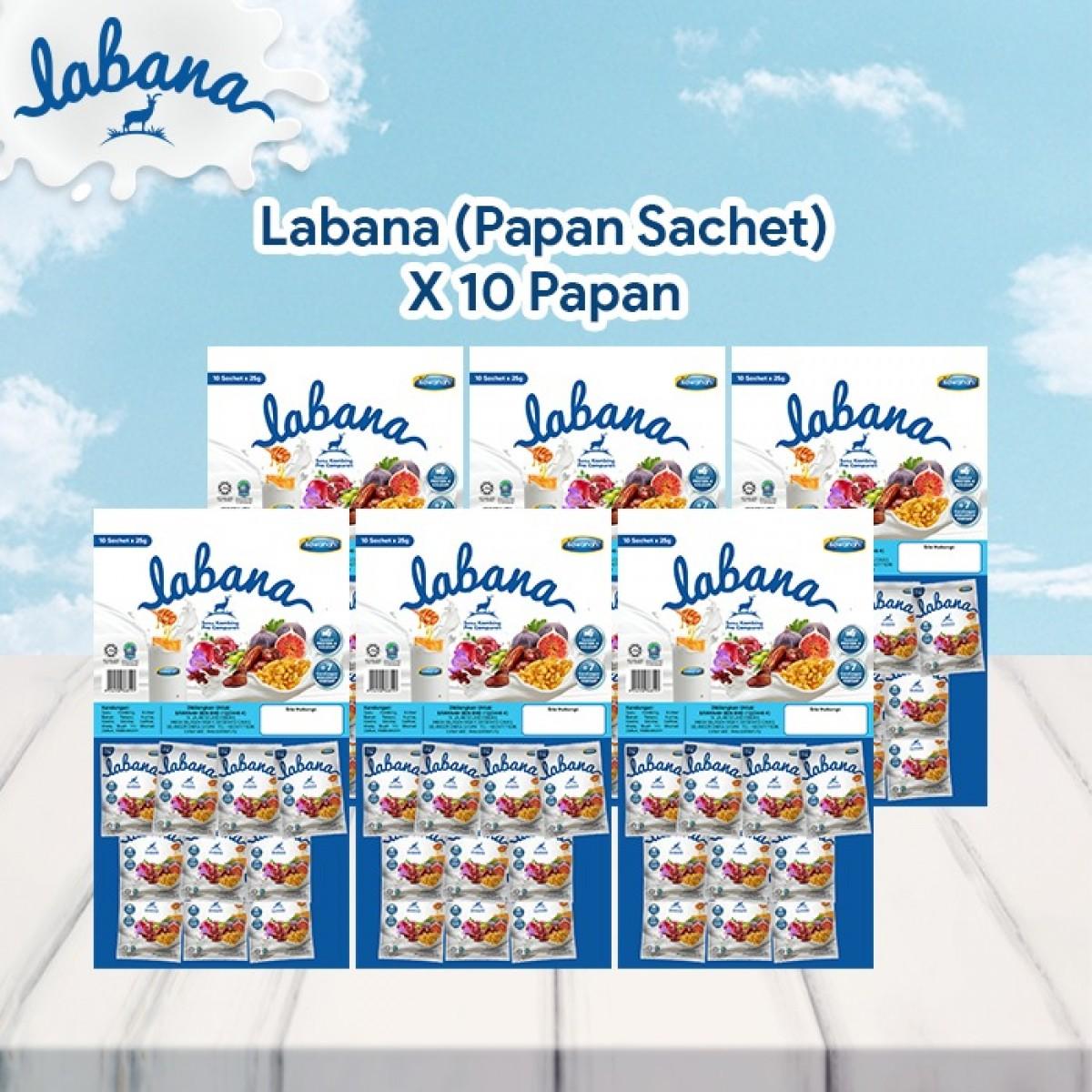 AGEN Labana Susu Kambing - Papan Sachet (10 Pek) - Sawanah HQ
