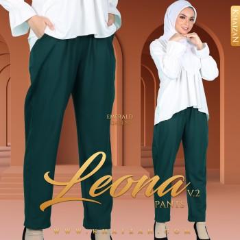 LEONA PANTS V2 - EMERALD GREEN