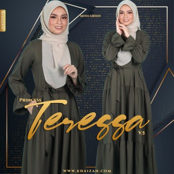 PRINCESS TERESSA V5 - MOSS GREEN