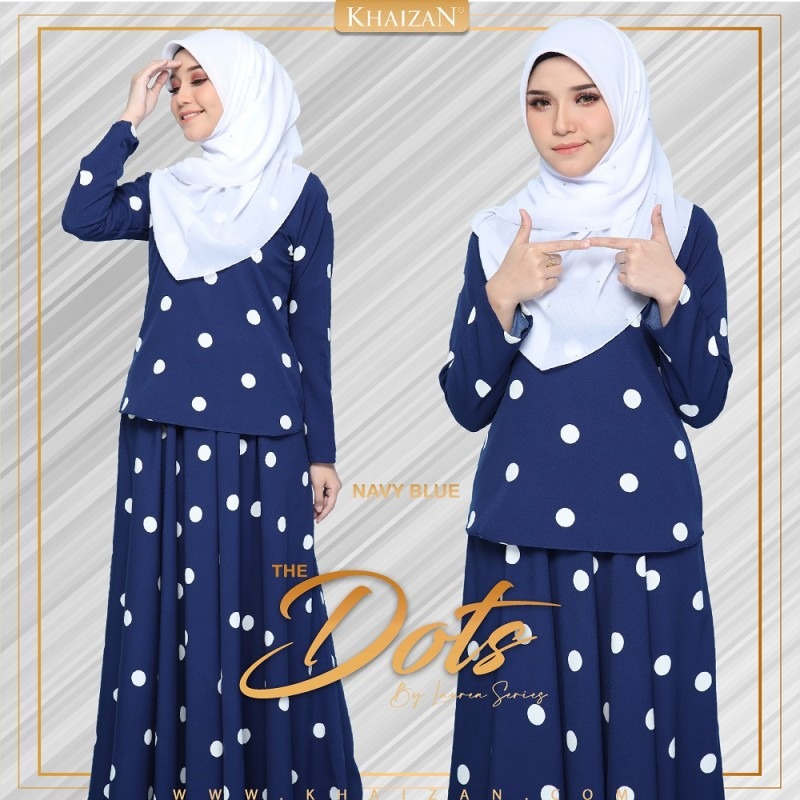 THE DOTS - NAVY BLUE