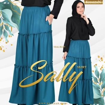 SALLY SKIRT - TEAL BLUE