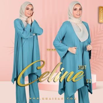 CELINE SUIT V2 - TEAL BLUE