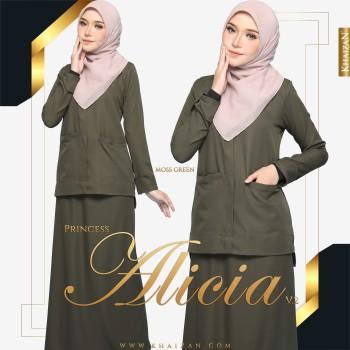 PRINCESS ALICIA V2 - MOSS GREEN