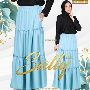 SALLY SKIRT - DUSTY BLUE