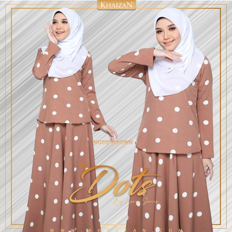 THE DOTS - NUDE BROWN