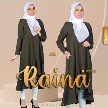 BLOUSE RAINA - MOSS GREEN