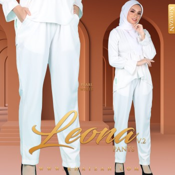 LEONA PANTS V2 - PEARL WHITE