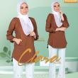 BLOUSE CLARA - DARK BROWN - KHAIZAN