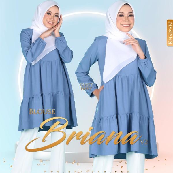 BLOUSE BRIANA V2 - DUSTY NAVY - KHAIZAN