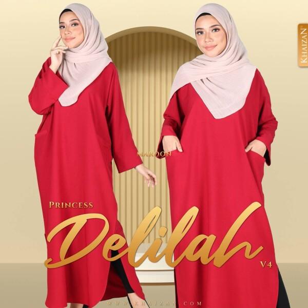 PRINCESS DELILAH V4 - MAROON - KHAIZAN