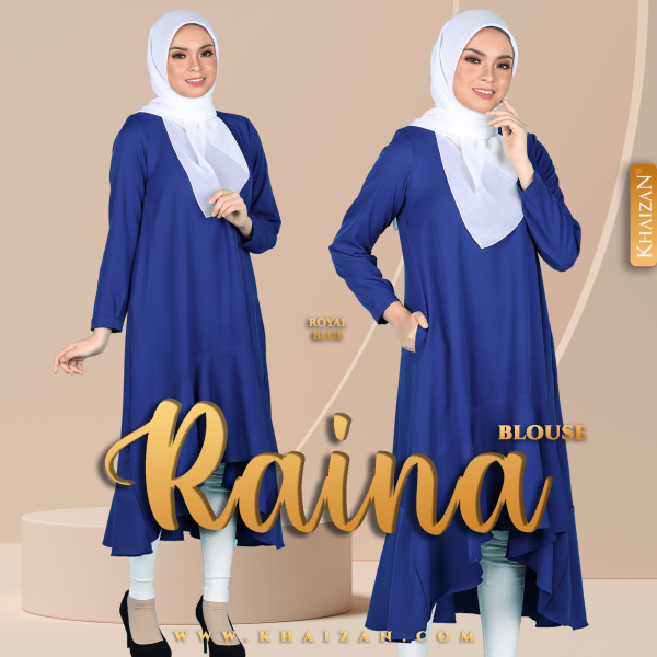BLOUSE RAINA - ROYAL BLUE - KHAIZAN
