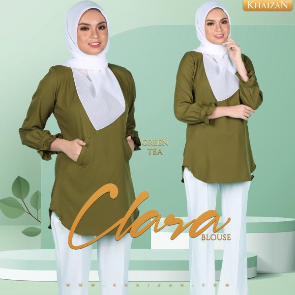 BLOUSE CLARA - GREEN TEA - KHAIZAN