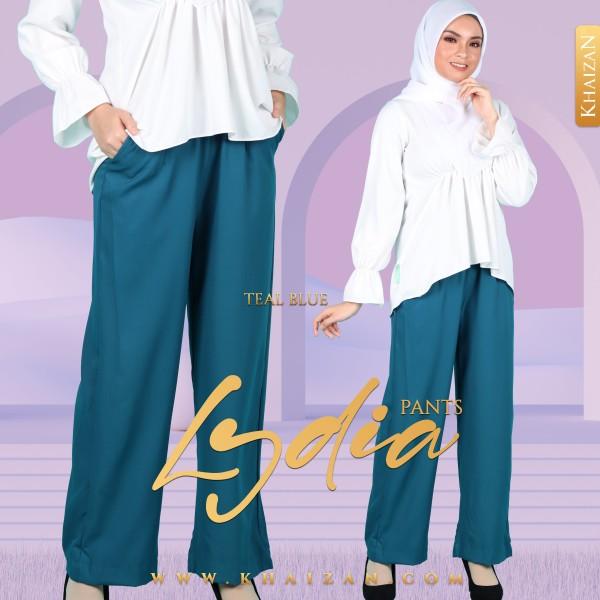 LYDIA PANTS - TEAL BLUE - KHAIZAN