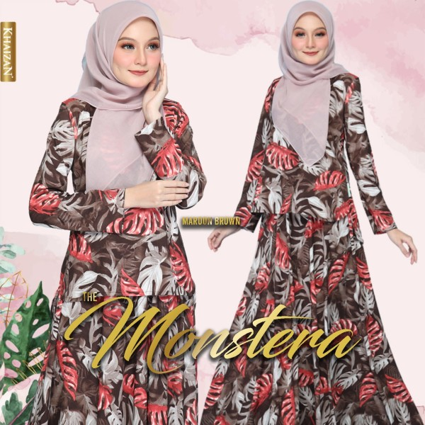 THE MONSTERA - MAROON BROWN - KHAIZAN